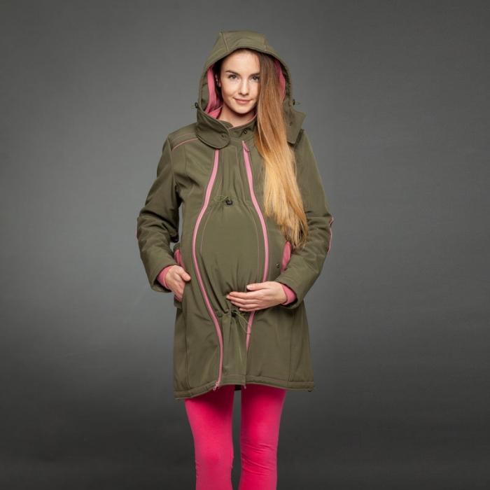 Geacă pentru mămici 4in1 Liliputi® - Olive-Pink