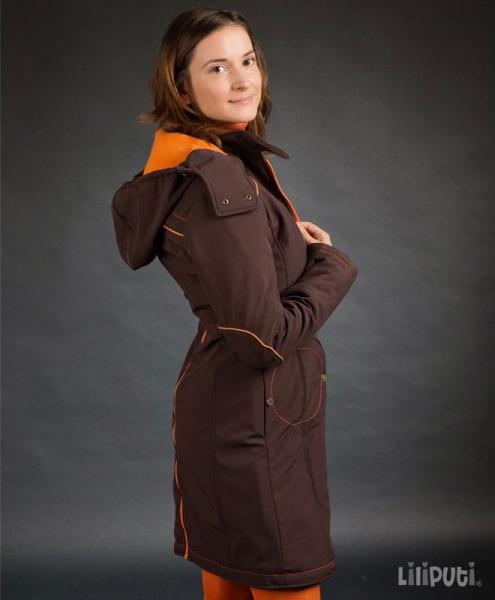 Geacă pentru mămici Liliputi® - Brown-orange 2