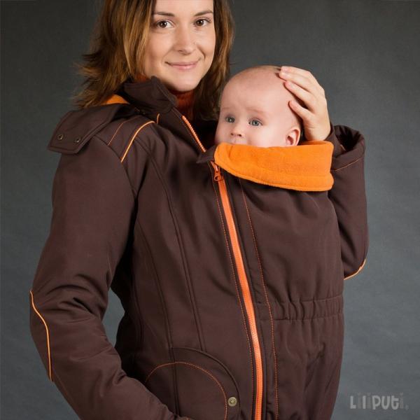Geacă pentru mămici Liliputi® - Brown-orange 1