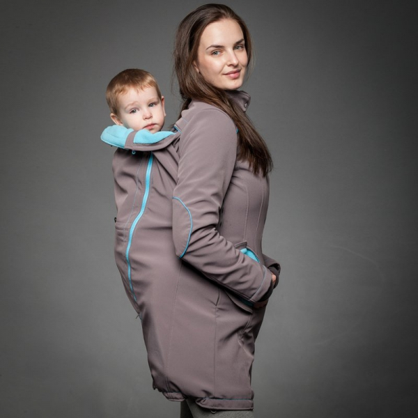 Geacă pentru mămici 4in1 Liliputi® - Grey-turquoise 2