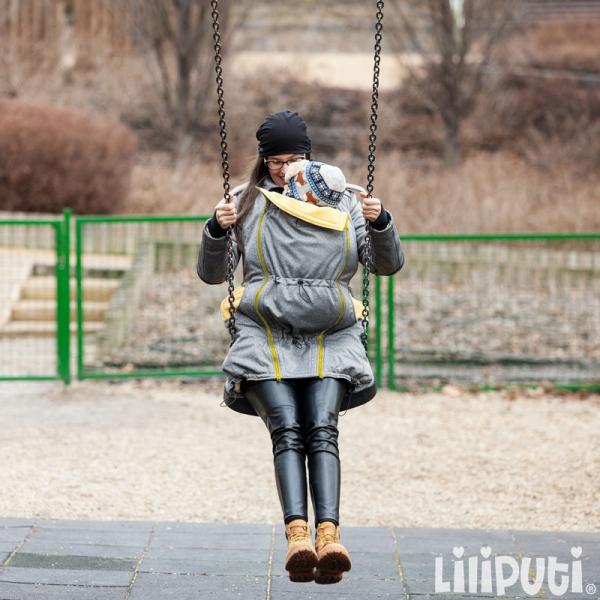 Geacă pentru mămici 4in1 Liliputi® - Grey-Yellow 2