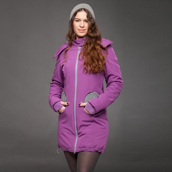 Geacă pentru mămici 4in1 Liliputi® - Violet-Grey 1