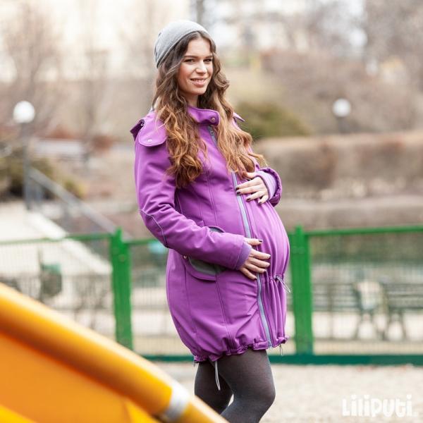 Geacă pentru mămici 4in1 Liliputi® - Violet-Grey 4