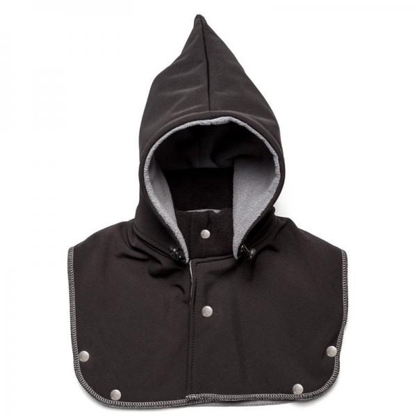 Glugă și fular de încălzire a gâtului pentru bebeluși Liliputi® - Black-grey 0