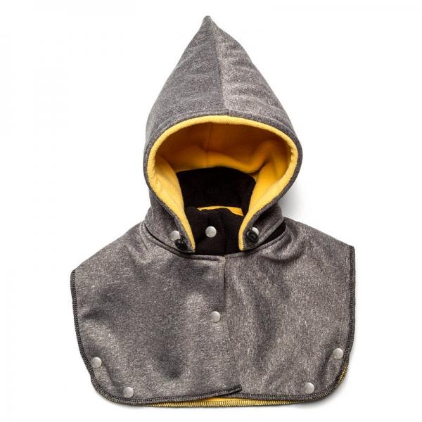 Glugă și fular de încălzire a gâtului pentru bebeluși Liliputi - Grey-yellow 0