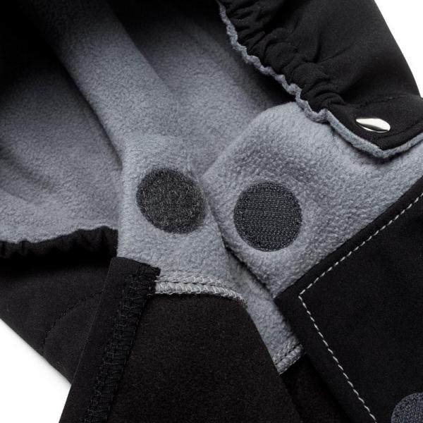 Glugă și fular de încălzire a gâtului pentru bebeluși Liliputi® - Black-grey 1