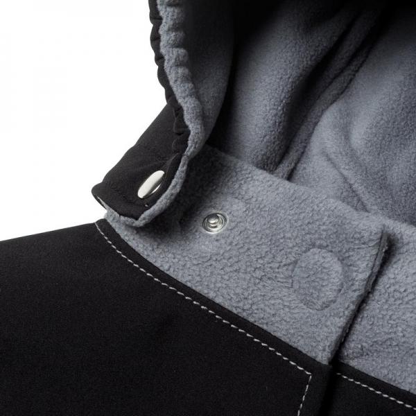 Glugă și fular de încălzire a gâtului pentru bebeluși Liliputi® - Black-grey 2