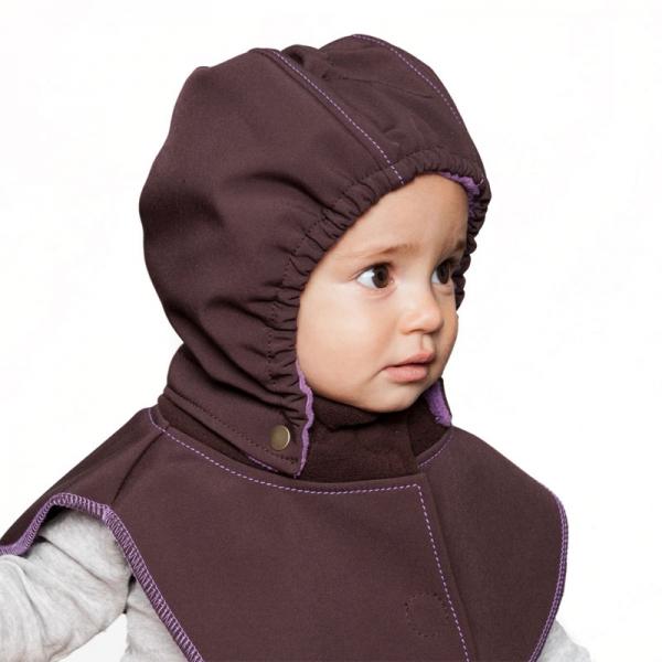 Glugă și fular de încălzire a gâtului pentru bebeluși Liliputi® - Black-grey 3