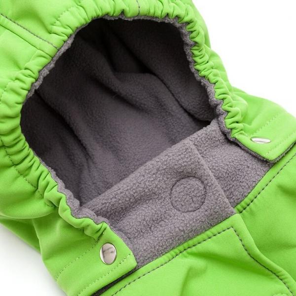 Glugă și fular de încălzire a gâtului pentru bebeluși Liliputi® - Green-grey 1