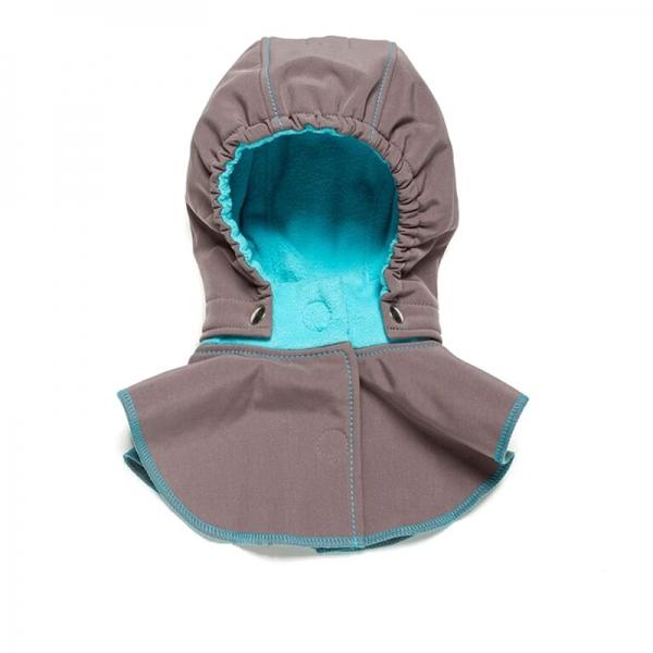 Glugă și fular de încălzire a gâtului pentru bebeluși Liliputi® - Grey-turquoise 0