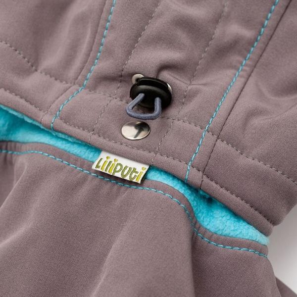 Glugă și fular de încălzire a gâtului pentru bebeluși Liliputi® - Grey-turquoise 2