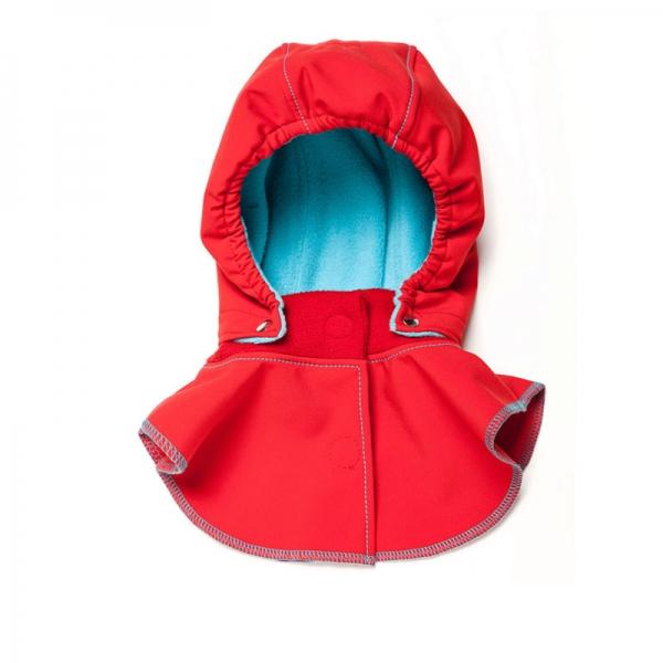 Glugă și fular de încălzire a gâtului pentru bebeluși Liliputi® - Red-turquoise 0