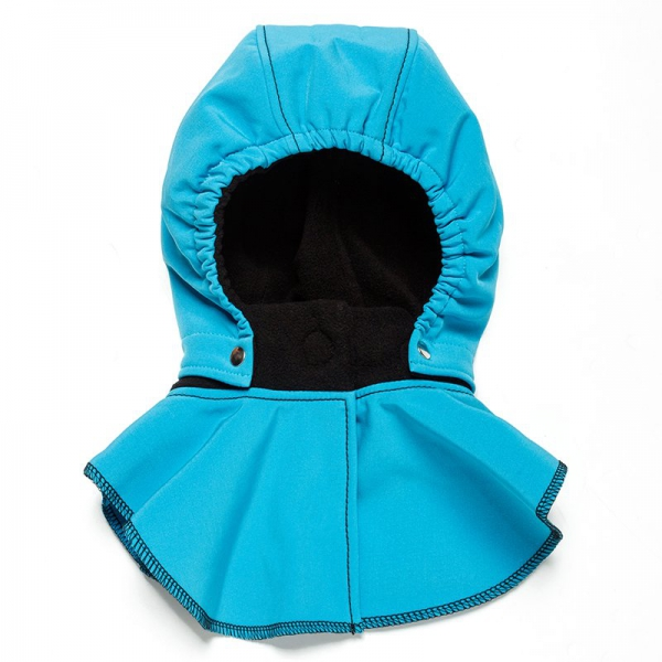 Glugă și fular de încălzire a gâtului pentru bebeluși Liliputi® - Turquoise-black 0