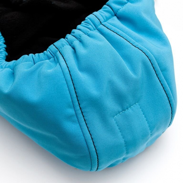 Glugă și fular de încălzire a gâtului pentru bebeluși Liliputi® - Turquoise-black 1