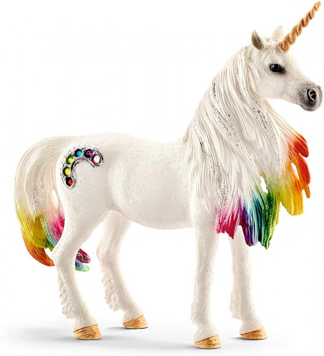 Iapa unicorn curcubeu cu strasuri - Figurina Schleich 70524 4