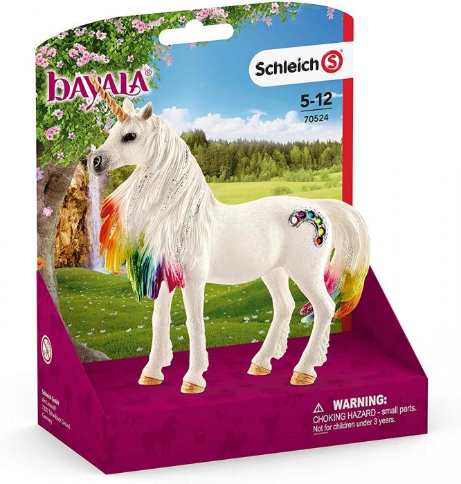 Iapa unicorn curcubeu cu strasuri - Figurina Schleich 70524 5