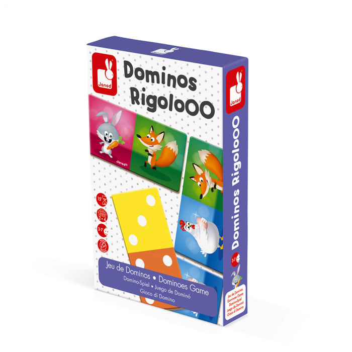 Joc de domino - Domino Rigolooo - 28 de piese, Janod J02737 0