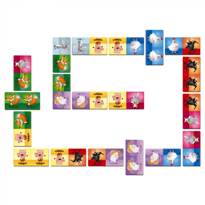 Joc de domino - Domino Rigolooo - 28 de piese, Janod J02737 1