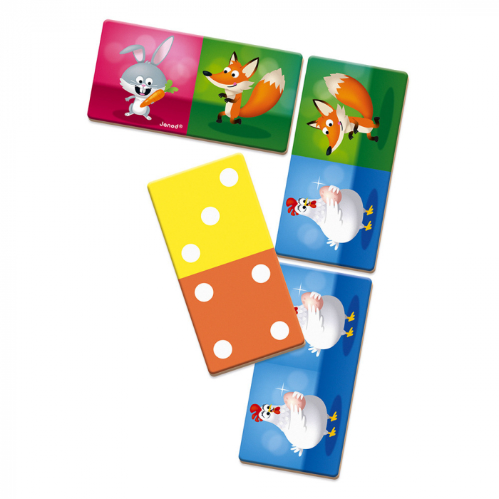 Joc de domino - Domino Rigolooo - 28 de piese, Janod J02737 2