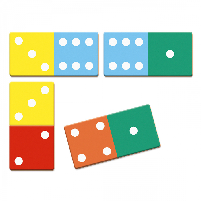 Joc de domino - Domino Rigolooo - 28 de piese, Janod J02737 3
