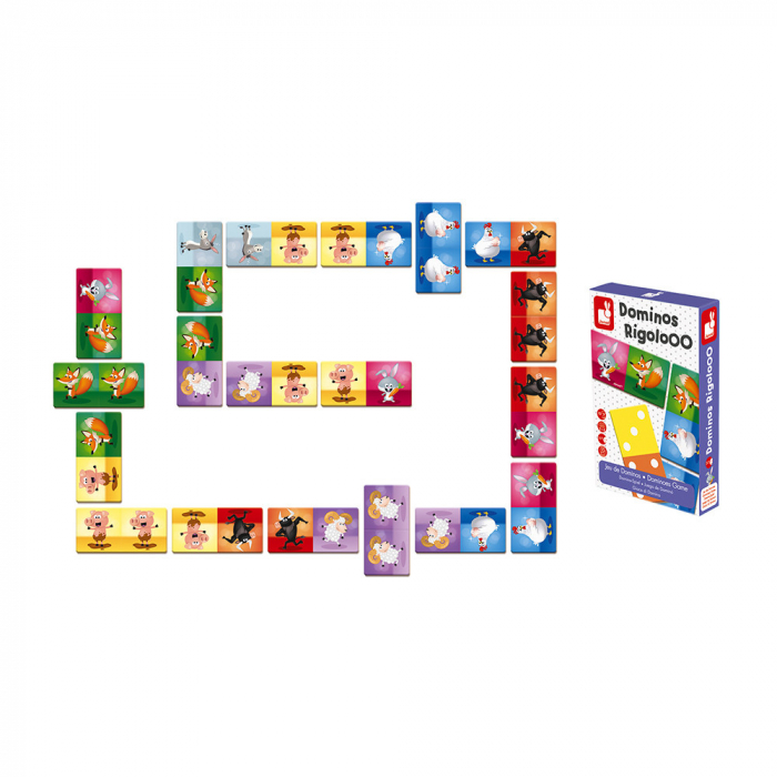 Joc de domino - Domino Rigolooo - 28 de piese, Janod J02737 4