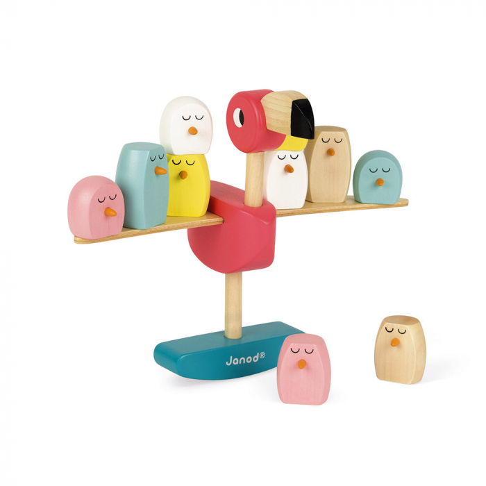 Joc de echilibru - Zigolos Flamingo - Janod J08230 0