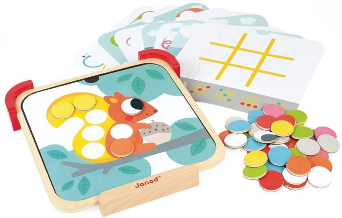 Joc de îndemânare - Învăț culori - lemn, Janod J05321 4