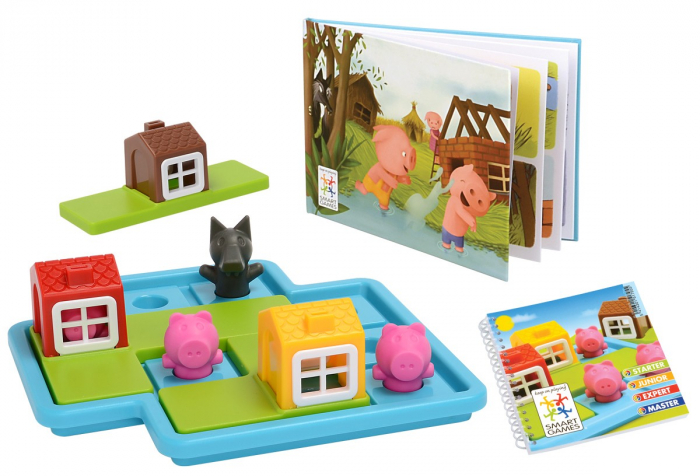 Joc de logică - Three Little Piggies, Smart Games SG 019 0