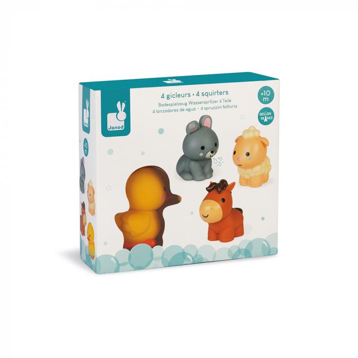 Jucării de baie - Animale de fermă - 4 de piese, Janod J04702 1