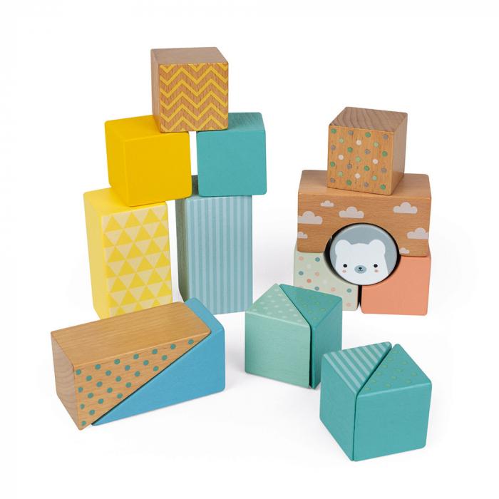 Jucărie de tras și cuburi (lemn) - Janod J05152 2