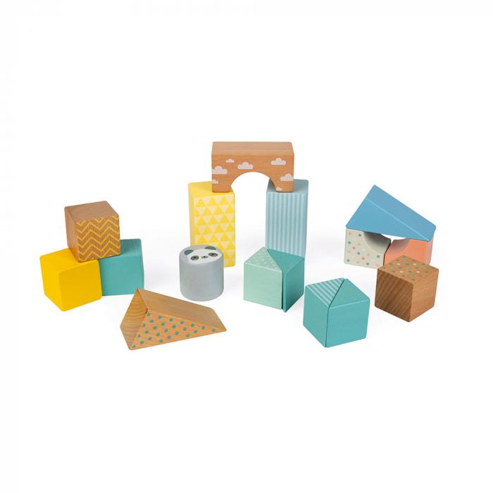Jucărie de tras și cuburi (lemn) - Janod J05152 4