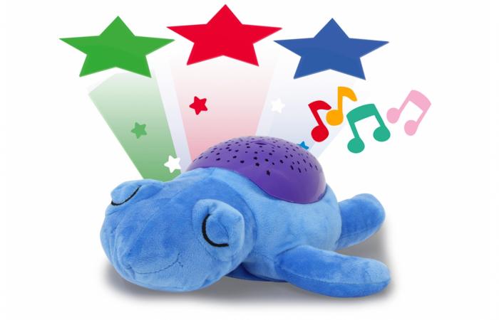 Lampă de veghe muzicală cu proiecție stelară - Dreamy Turtle, Jamara 460431 [0]