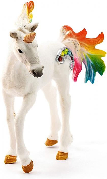 Manz unicorn curcubeu cu strasuri - Figurina Schleich 70525 1