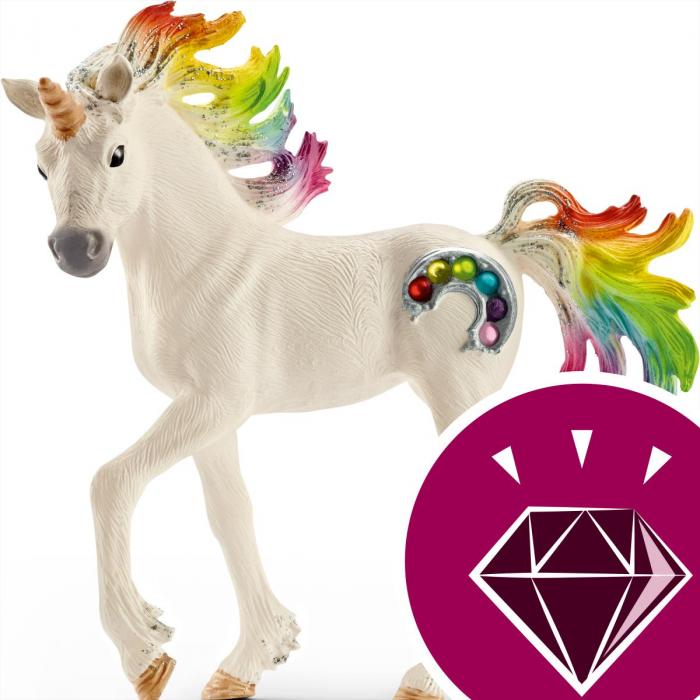 Manz unicorn curcubeu cu strasuri - Figurina Schleich 70525 4