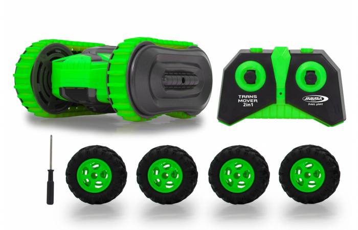 Mașină cu telecomandă Trans Mover Stuntcar 4WD 2 in 1 verde 1:24, Jamara 410141 [0]