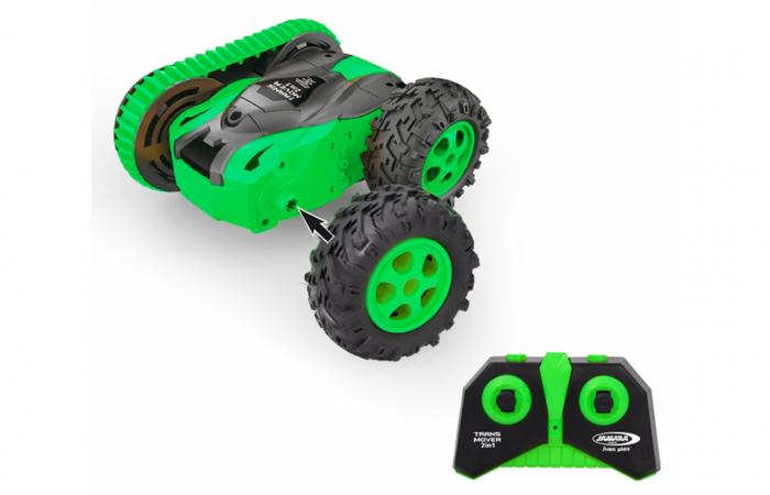 Mașină cu telecomandă Trans Mover Stuntcar 4WD 2 in 1 verde 1:24, Jamara 410141 [1]