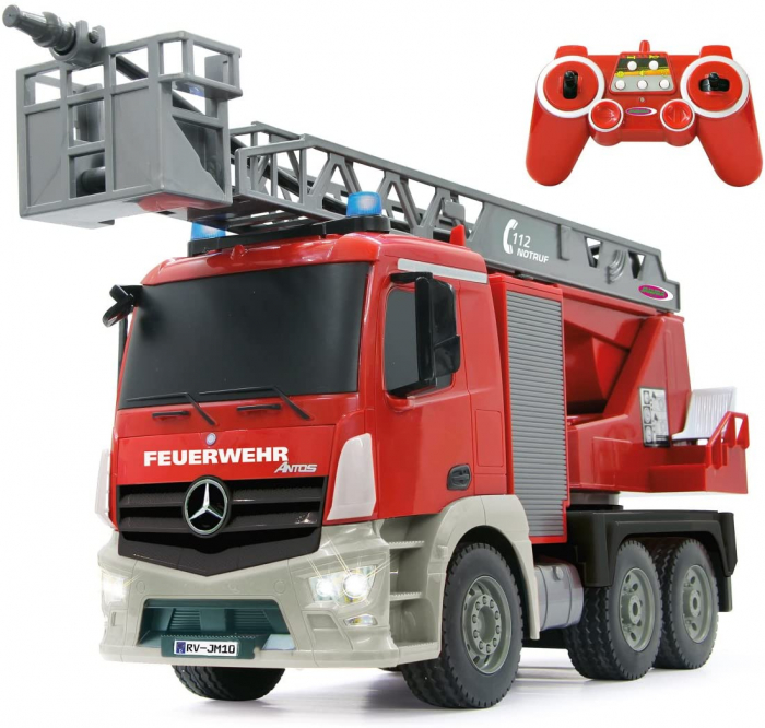 Masină de pompieri cu telecomandă Mercedes Antos cu scara și pompă de apă, Jamara 404960 [0]