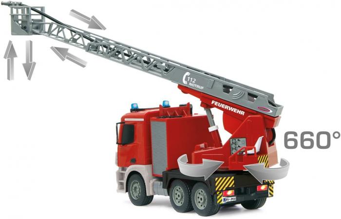 Masină de pompieri cu telecomandă Mercedes Antos cu scara și pompă de apă, Jamara 404960 [1]