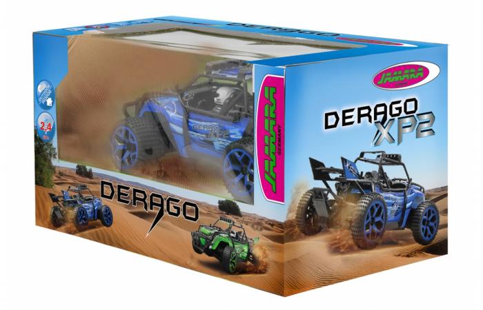 Masină off-road cu telecomandă Derago XP1 4WD albastru 1:18, Jamara 410013 1