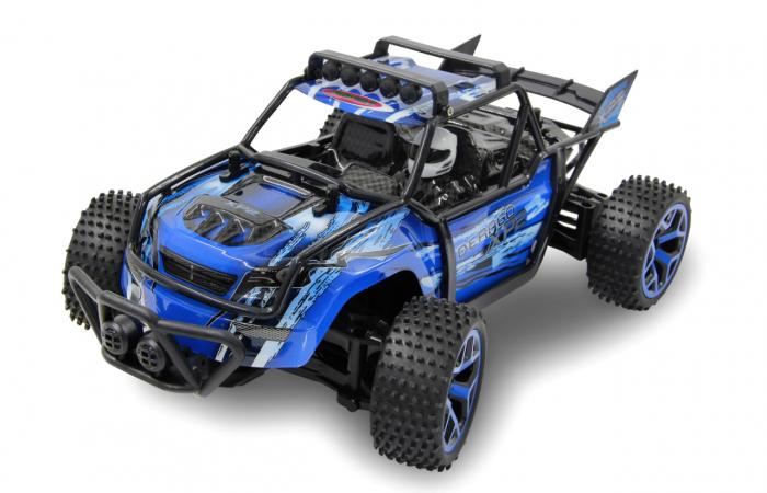 Masină off-road cu telecomandă Derago XP1 4WD albastru 1:18, Jamara 410013 3