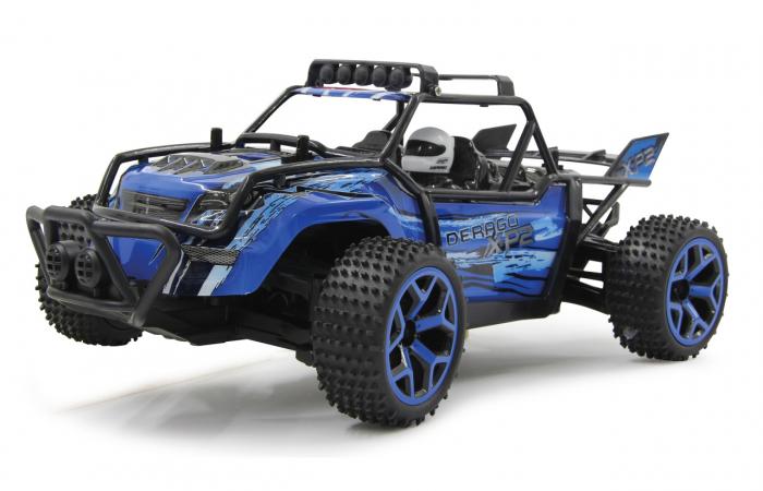 Masină off-road cu telecomandă Derago XP1 4WD albastru 1:18, Jamara 410013 5