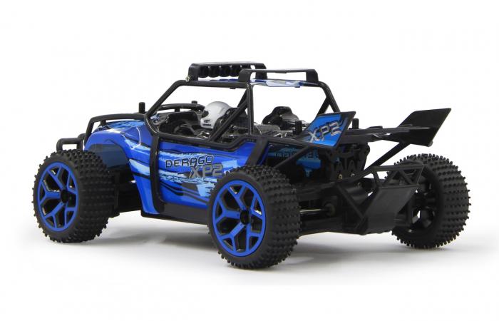 Masină off-road cu telecomandă Derago XP1 4WD albastru 1:18, Jamara 410013 6