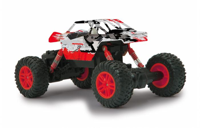 Masină off-road cu telecomandă Hillriser Crawler 4WD portocaliu 1:18, Jamara 410054 3