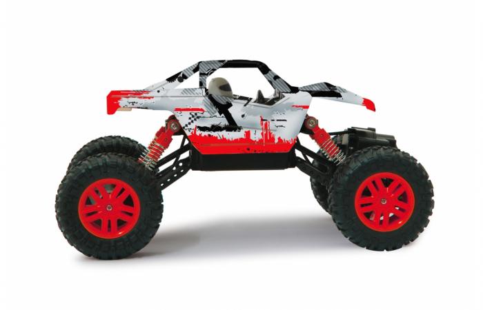 Masină off-road cu telecomandă Hillriser Crawler 4WD portocaliu 1:18, Jamara 410054 5
