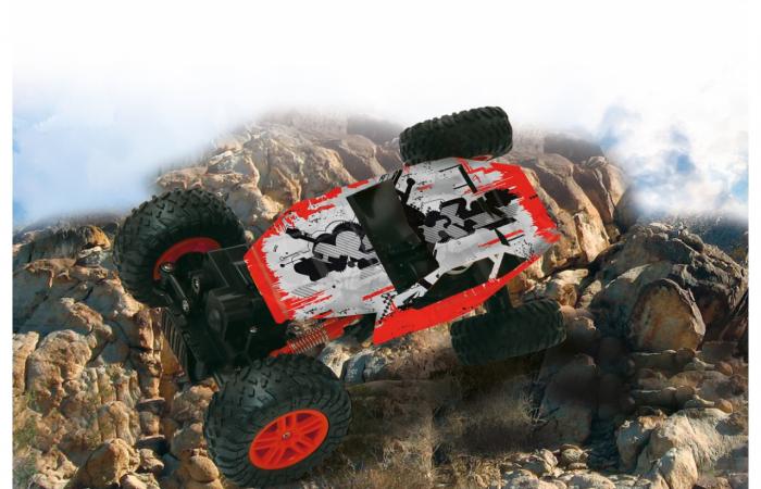 Masină off-road cu telecomandă Hillriser Crawler 4WD portocaliu 1:18, Jamara 410054 6