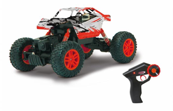 Masină off-road cu telecomandă Hillriser Crawler 4WD portocaliu 1:18, Jamara 410054 7