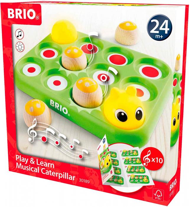 Învață jucând - Omida muzicală, Brio 30189 0