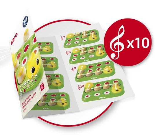 Învață jucând - Omida muzicală, Brio 30189 7