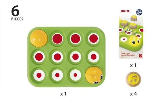 Învață jucând - Omida muzicală, Brio 30189 9
