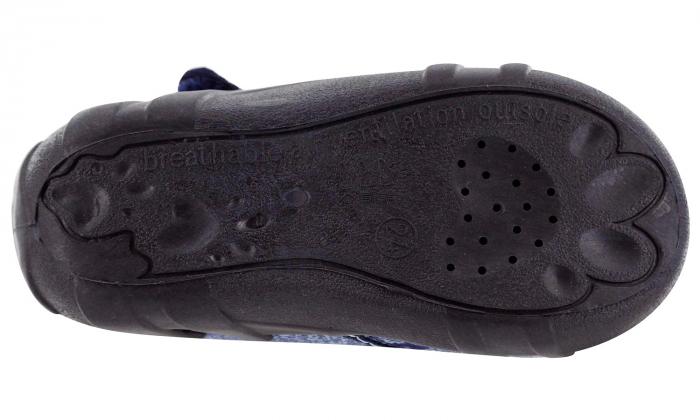 Pantofi baieti cu ancora brodata (cu scai), din material textil [6]